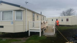Our caravan badly damaged