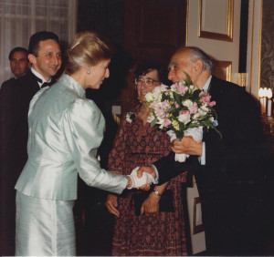Pat and Joan meet HRH Princess Alexandra in 1994