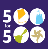 500 for 500 logo purple background 200px-w