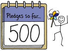 500 pledges notepad