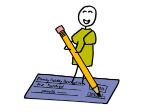 Stickman cheque