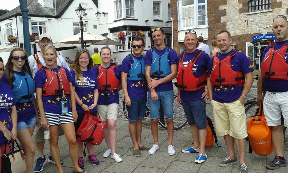Exeter Thomson shop canoe event