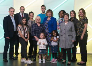 Pictured: Fiona Hyslop, Cabinet Secretary for Culture, Tourism and External Affairs is pictured with families and business partners involved in the VisitScotland 'ScotSpirit' breaks initiative at the Glasgow Science Centre