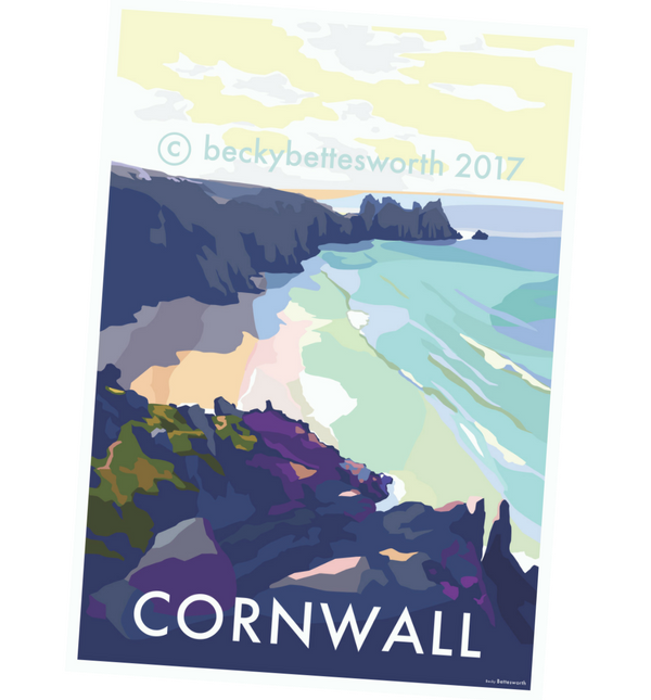 Becky Bettesworth Cornwall Print