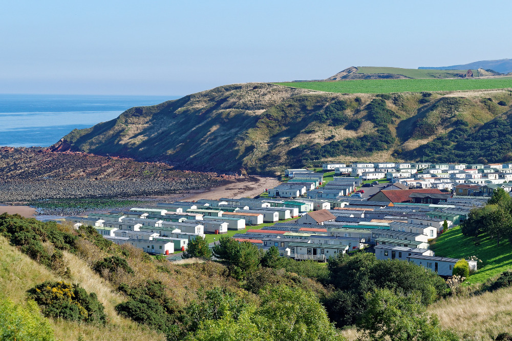 Many holiday parks occupy prime locations along the coastline