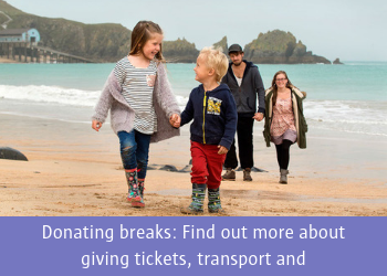 Donate a break: Find out more