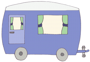 caravan on own no people