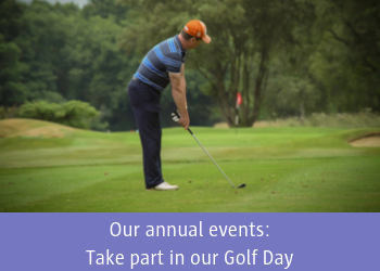 Our annual events: Take part in our Golf Day