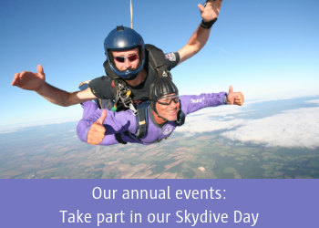 Our annual events: Take part in our Skydive Day