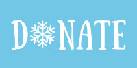 Advent Image: Donate with a snowflake in the place of the letter o