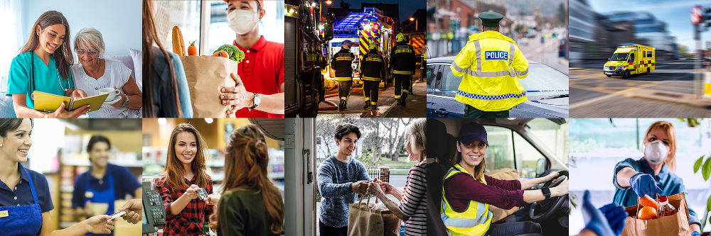 Image Tiles: Key workers