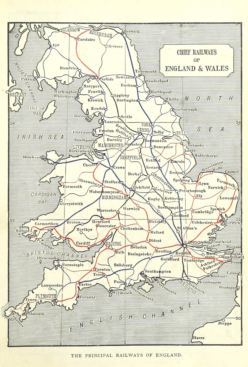Railways in England Wales 1898