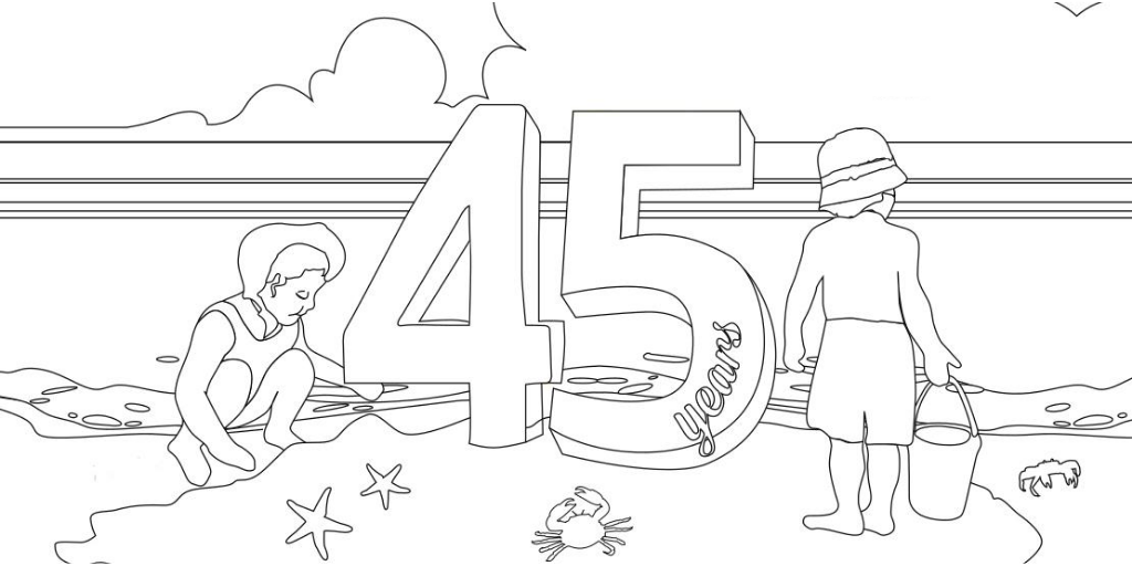 45th Anniversary colouring