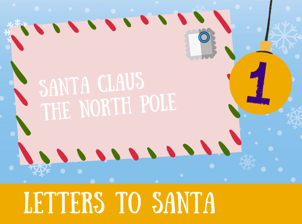 Image: Envelope addressed to Santa