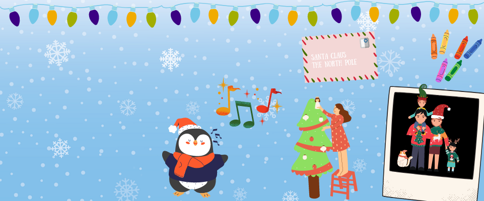Take part in our daily festive activities