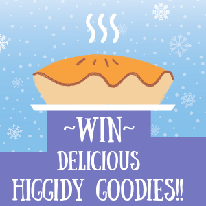 Advent Image: Hot pie with text 'Win delicious Higgidy goodies'
