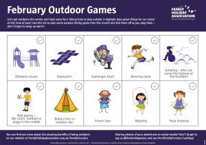 Download our February Outdoor Games